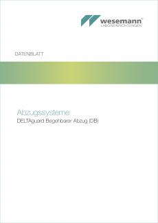 Datenblatt DELTAguard Begehbarer Abzug