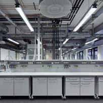 Laboreinrichtung Laborzeile Rollcontainer
